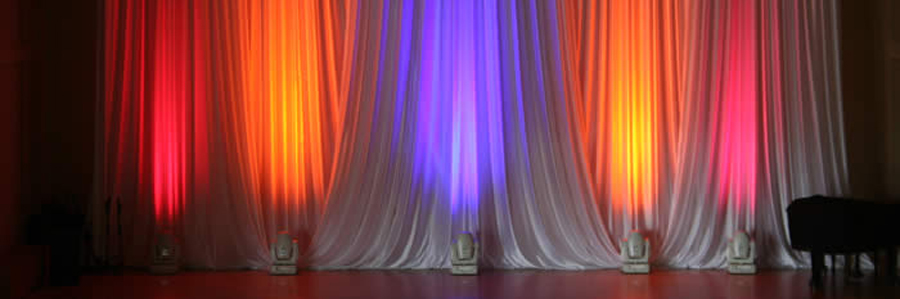 Black And White Theater Curtains